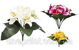 """Букет искусственный """"Орхидеи в букете"""" 7 цветков, 10 см, 28 см (8 видов)"""