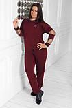 Спортивный костюм женский Турецкая двунитка Размер 48 50 52 54 56 58 60 62 64 В наличии 5 цветов, фото 6