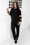 Спортивный костюм женский Турецкая двунитка Размер 48 50 52 54 56 58 60 62 64 В наличии 5 цветов, фото 2