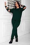 Спортивный костюм женский Турецкая двунитка Размер 48 50 52 54 56 58 60 62 64 В наличии 5 цветов, фото 3
