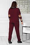 Спортивный костюм женский Турецкая двунитка Размер 48 50 52 54 56 58 60 62 64 В наличии 5 цветов, фото 4