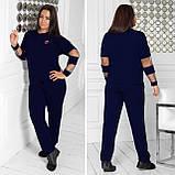 Спортивный костюм женский Турецкая двунитка Размер 48 50 52 54 56 58 60 62 64 В наличии 5 цветов, фото 7