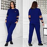 Спортивный костюм женский Турецкая двунитка Размер 48 50 52 54 56 58 60 62 64 В наличии 5 цветов, фото 10