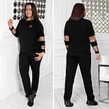 Спортивный костюм женский Турецкая двунитка Размер 48 50 52 54 56 58 60 62 64 В наличии 5 цветов, фото 8