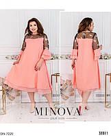 Шифоновое нарядное женское платье больших размеров 48-62 арт 1010