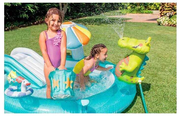 Дитячий надувний ігровий центр басейн Intex 57129 203 см х 189 см х 173 см