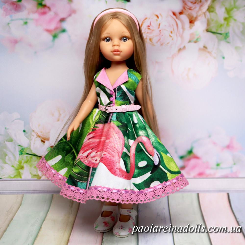 """Платье """"Розовый Фламинго"""" для кукол Паола Рейна"""