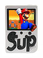 🔝 Портативная ретро приставка Retro Gamebox Sup 400 in 1 денди карманная игровая 8 бит Белая (Gamebox  400 in 1) | 🎁%🚚