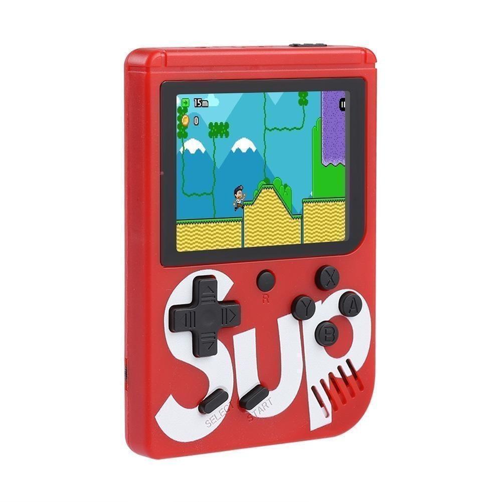 🔝 Портативная ретро консоль Retro Gamebox Sup 400 in 1 денди приставка игровая 8 бит Красная (Game Box 400in1) | 🎁%🚚