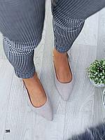 Туфли босоножки с закритым передом серие замш с бантиком