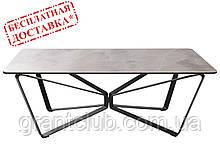 Стіл журнальний LUTON R 125х70х44 см кераміка світло-сірий Nicolas (безкоштовна доставка)