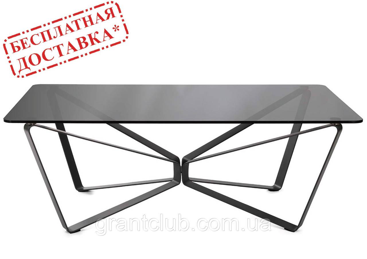 Стол журнальный LUTON R 125*70*44 см стекло дымка глянец Nicolas (бесплатная доставка)
