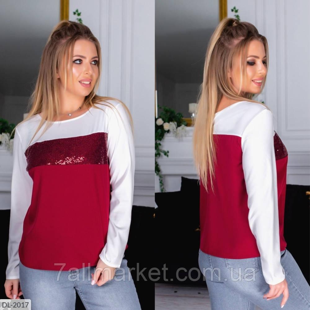 """Блуза жіноча стильна арт. v 306 (XL, XXL) """"REMISE STORE"""" недорого від прямого постачальника"""