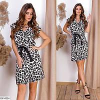 """Сукня жіноча леопардове арт. v 313 (L, M, S, XL, XXL) """"REMISE STORE"""" недорого від прямого постачальника"""