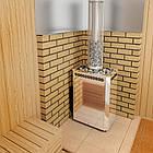 Дровяная печь для бани и сауны Теплодар Сахара 24 ЛНЗП профи с ГЛП, фото 4