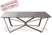 Стол журнальный LUTON R 125*70*44 см стекло мокко глянец Nicolas (бесплатная доставка)