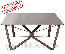 Стіл журнальний LUTON S 89,5 x 89,5 x 45 см скло мокко глянець Nicolas (безкоштовна доставка)