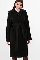 Женское  черное кашемировое пальто ПМ-88, фото 1