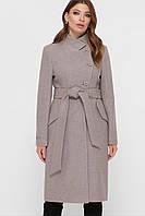 Женское классическое пальто бежевого цвета ПМ-97, фото 1