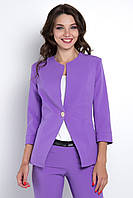 Пиджак женский, цвет: фиолетовый, размер: 42, 44, 46, 48, 50, 52