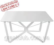 Стіл журнальний LUTON S 89,5 x 89,5 x 45 см скло білий глянець Nicolas (безкоштовна доставка)