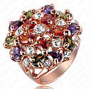 Большое  шикарное Кольцо ROXI  с покрытием 18K розового золота с Австрийскими кристаллами, фото 2