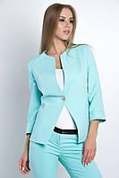 Пиджак женский, цвет: мятный, размер: 42, 44, 46, 48, 50, 52