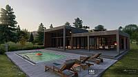 3D візуалізація котеджу, приватного будинку, фото 1