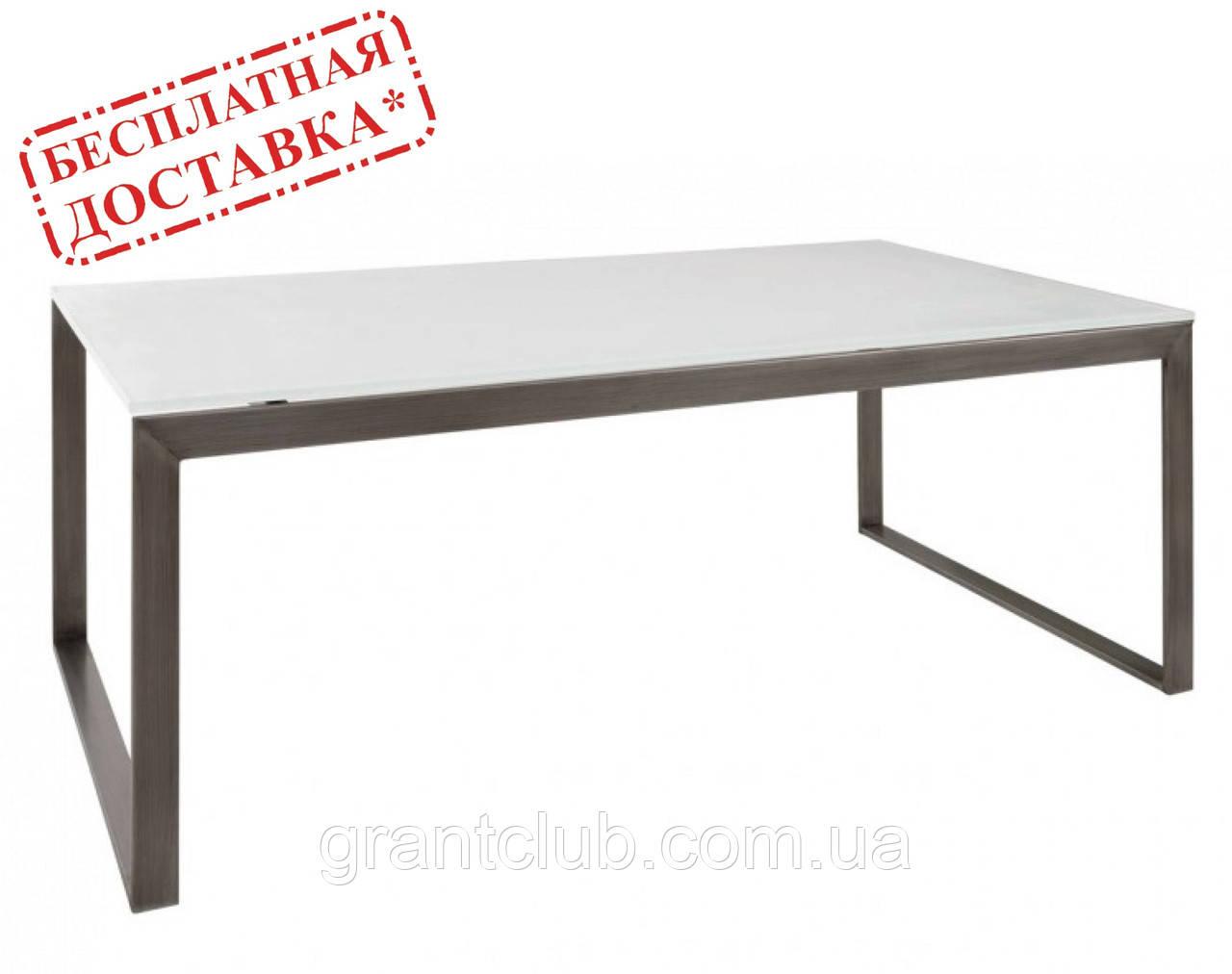 Стол журнальный BRIGHTON R стекло белый (120х65х45 см) Nicolas (бесплатная доставка)