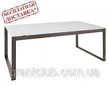 Стіл журнальний BRIGHTON R скло білий (120х65х45 см) Nicolas (безкоштовна доставка)