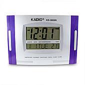 Электронные часы Kadio (KD-3809N), Фиолетовые, настенные цифровые часы, с большим экраном