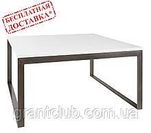 Стол журнальный BRIGHTON S белый МДФ (90х90х45 см) Nicolas (бесплатная доставка)