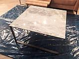 Стол журнальный BRIGHTON S (90х90х45 см) керамика светло-серый глянец Nicolas (бесплатная доставка), фото 3