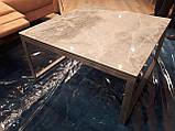 Стол журнальный BRIGHTON S (90х90х45 см) керамика светло-серый глянец Nicolas (бесплатная доставка), фото 4