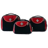 Сумка кейс саквояж 3в1 Bonro Style чорно-червоний