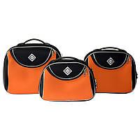 Сумка кейс саквояж 3в1 Bonro Style чорно-помаранчевий