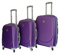 Чемодан Bonro Smile набор 3 штуки фиолетовый, фото 1