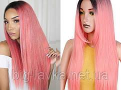 Парик из искусственных волос Sunshine 66 см  Розовый