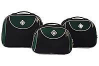 Сумка кейс саквояж 3в1 Bonro Style чорно-зелений