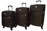 Валіза Bonro Tourist 4 колеса набір 3 штуки коричневий, фото 1