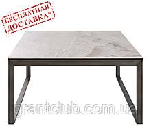 Стіл журнальний BRIGHTON S (90х90х45 см) кераміка світло-сірий глянець Nicolas (безкоштовна доставка)