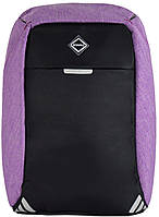 Рюкзак протикрадій Bonro з USB 20 л фіолетовий