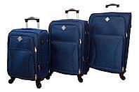Чемодан Bonro Tourist 4 колеса набор 3 штуки синий, фото 1