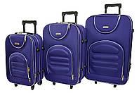 Чемодан Siker Lux набор 3 шт. т.фиолетовый