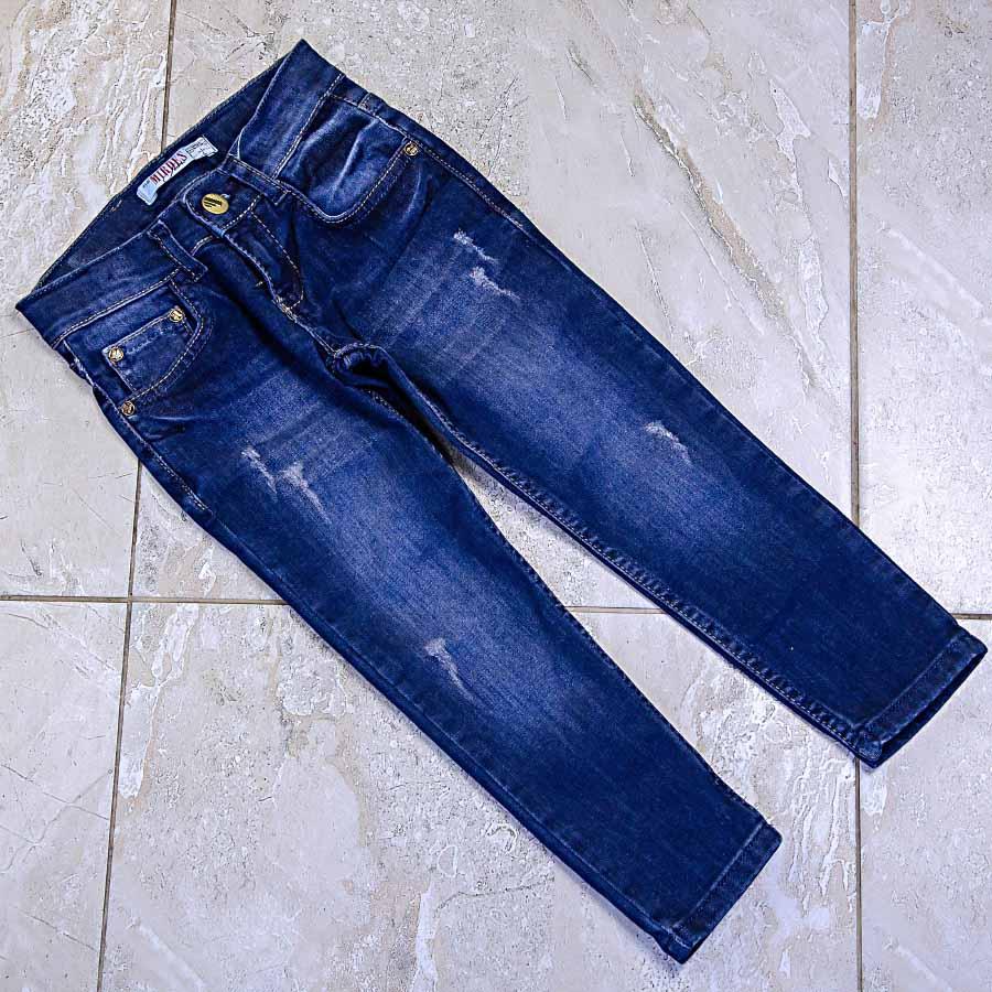 Джинсы демисезонные темно-синего цвета для девочки, Mirdes