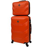 Комплект валіза + кейс Bonro 2019 (великий) помаранчевий, фото 1