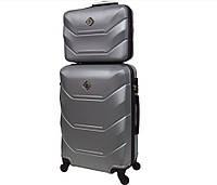 Комплект валіза + кейс Bonro 2019 (середній) срібний, фото 1