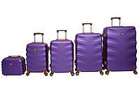 Валіза Bonro Next набір 5 шт. фіолетовий, фото 1