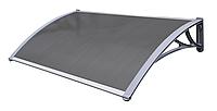 Навес для входных дверей Siker 800-С (800*1500) Серый, фото 1