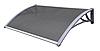 Навес для входных дверей Siker 1000-С (1000*1200) Серый